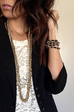 Lace and blazer ♥