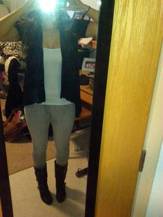 love my grey jeggings, obsessed