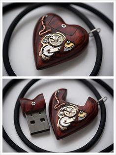 flash drive, stick, pendants, heart, stuff