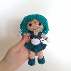 Sailor Neptune Amigurumi Plush Doll by Clare Heesh