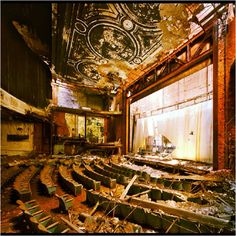 Detroit, Michigan. Abandoned theatre.