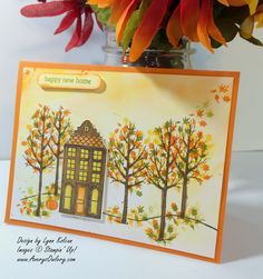 Stampin Up White Christmas Holiday Home
