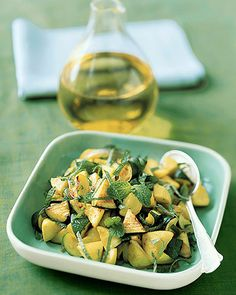 Sauteed Zucchini and Yellow Squash with Mint - Martha Stewart Recipes