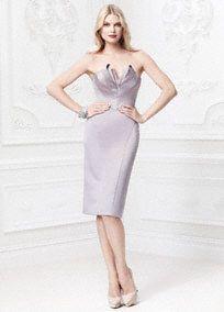 Truly Zac Posen Short Strapless Dress with Petal Detailed Bodice, Style ZP285043 #davidsbridal #trulyzacposen #cityweddings