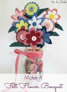 Easy to make felt flower tutorial.