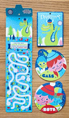 Snow Dragon hang tag campaign by Tad Carpenter