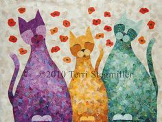 Three Cats by Terri Stegmiller