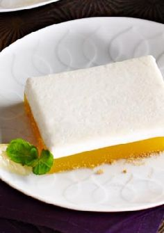Upside-Down Lemon Meringue Dessert -- This luscious dessert recipe has all the layers of a lemon meringue pie--in reverse order. It's a fantastic finish to any meal!