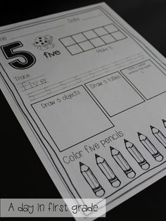 Worksheets, lessons, and organizing ideas to help your kindergarten and first grade students master number concepts