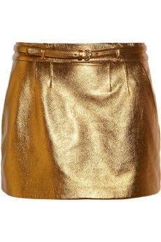 Gucci | Metallic leather mini skirt | NET-A-PORTER.COM - StyleSays