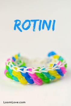 How to Make a Rainbow Loom Rotini Bracelet #rainbowloom