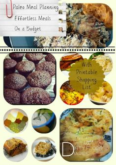 Paleo Meal Planning - A week's worth of healthful meals on a budget