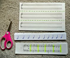 Music Themed Cutting Tray - Pinned by @PediaStaff – Please Visit  ht.ly/63sNt for all our pediatric therapy pins