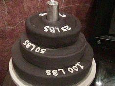 Weight Lifter's cake