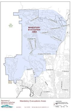 Latest Waldo Canyon Fire evacuation map sent to us by Colorado Springs