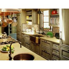 LOVE the copper sinks!