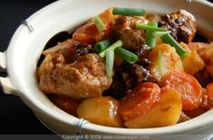 vegan: asian styled seitan and vegetable stew...