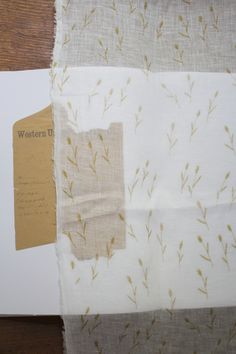 LINNET Printed LinenGauze bristle grass off white