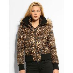 Padded Leopard Jacke