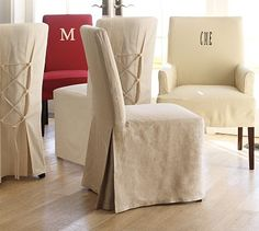 Linen Chair Cover washable stretch elastic dining room wedding banquet chair slip