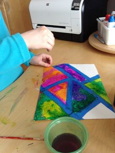 Holly's Arts and Crafts Corner: Science & Art - watercolour salt paintings