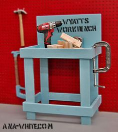 Plans to build a toy work bench