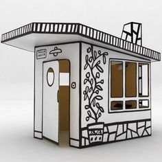 mid-century cardboard playhouse