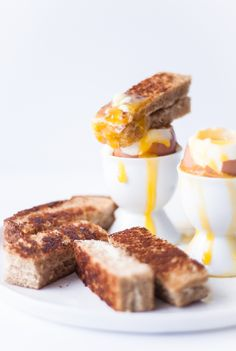 Perfect Soft-Boiled Eggs & Grilled Cheese Soldiers - Blogging Over Thyme