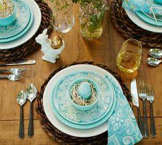 Graphic Bunny Plates, Set of 4 | Pottery Barn