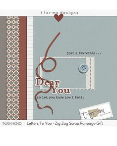 Letters To You tiny kit freebie from T for Me Designs #scrapbook #digiscrap #scrapbooking #digifree #scrap