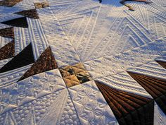 This quilt is a work of art.  Check out the other photos on The Green Fairy's blog.