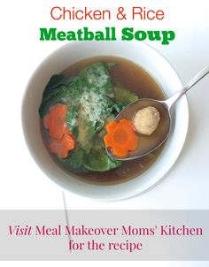 Try our easy Chicken & Rice Meatball Soup for your next family dinner.
