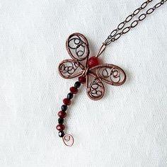 dragonfly pendant | JewelryLessons.com