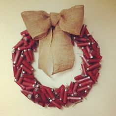 Haha shotgun shell wreath. i know so many people who'd love this