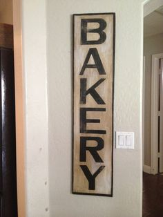 wood bakery sign
