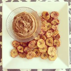#paleo Plantain Chips and Sweet Pumpkin Dip