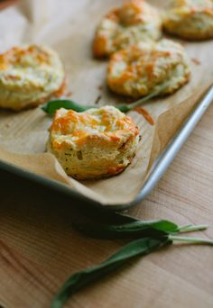 Apple, Sage and Cheddar Biscuits.