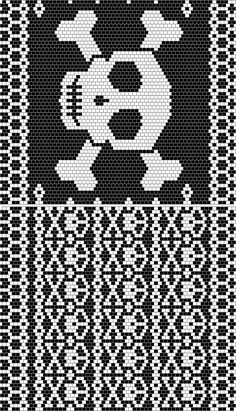small repeating skull pattern - use on scarf skulls, peyote beading, skull pattern, peyot bead, roger skull, cross stitch, beaded earrings, peyote patterns, bag patterns