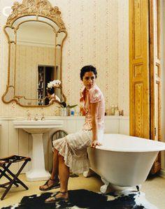 Carolina Herrera Jr. in her apartment
