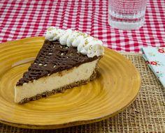 Salted Brown Butter Pie w/ Pecan Crust & Ganache / @DJ Foodie / DJFoodie.com