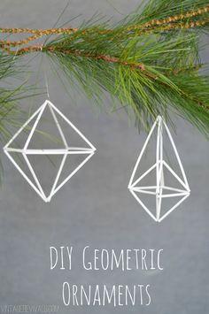 DIY Geometric Ornament Tutorial vintagerevivals