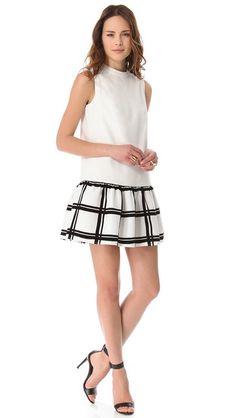 Gorgeous drop waist @tibipr dress --want this badly. So pretty!