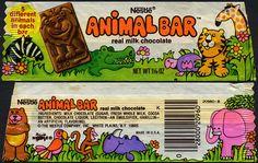 Nestle - Animal Bar candy bar wrapper - 1970's by JasonLiebig, via Flickr