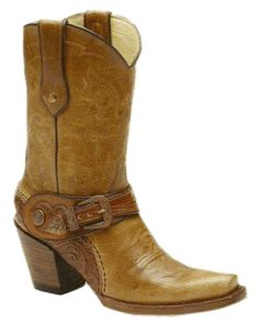 Corral Women's Saltillo Golden Harness Tooled Sole Cowgirl Boot   http://www.countryoutfitter.com/products/30986-womens-saltillo-golden-harness-tooled-sole-g1907