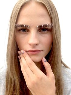 Would you pierce your face in the name of fashion? The stacks of eyebrow rings at Rodarte's show certainly got everyone's attention