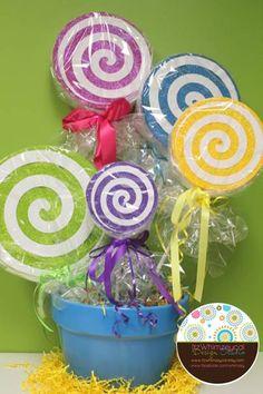 "Faux Glittered Lollipop Props 5ct.. $40.00, via Etsy. seller:  ""itzwhimzeycal"""