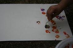 art project, flower art, flower paintings, preschool flower