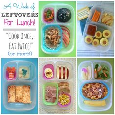 Packing leftovers for lunch - Cook Once, Eat Twice!
