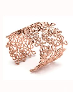 Rose Gold Flower Lace Cuff