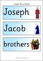 Joseph story word cards (SB10072) - SparkleBox